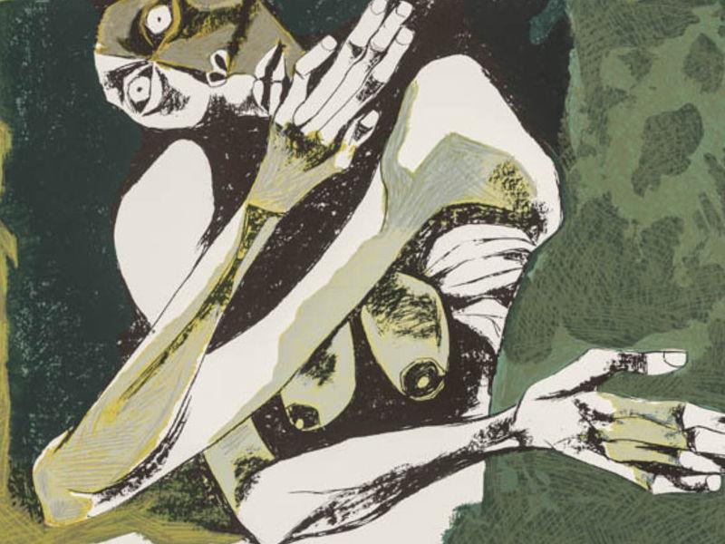 Oswaldo Guayasamín - Mujer Desnuda (E/A)