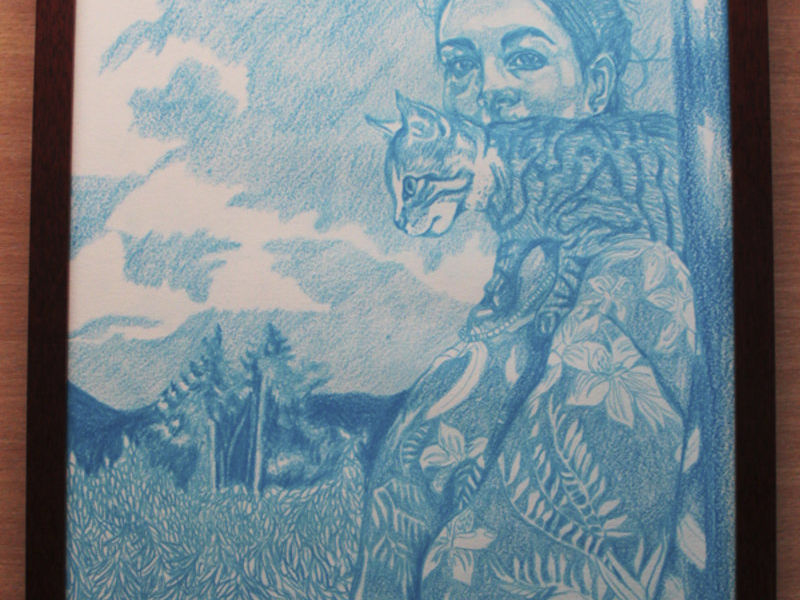 Rodriguez Lisseth / Autoretrato con Mi Gato