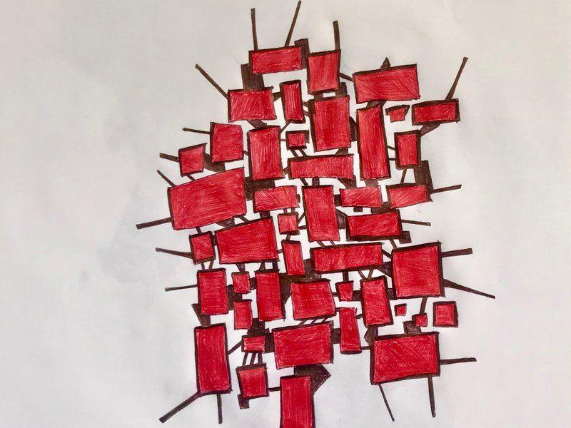 Formas en rojo