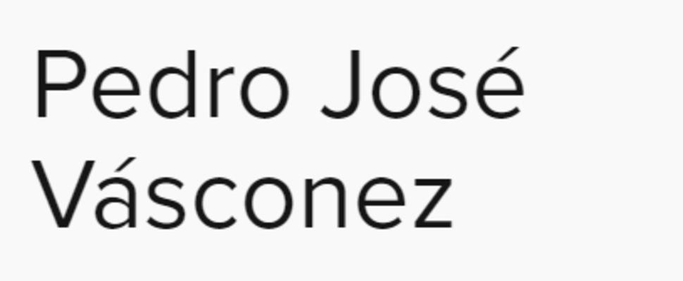 Vásconez Pedro