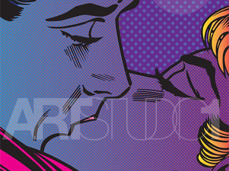 KISS UNDER THE MOON / POP ART