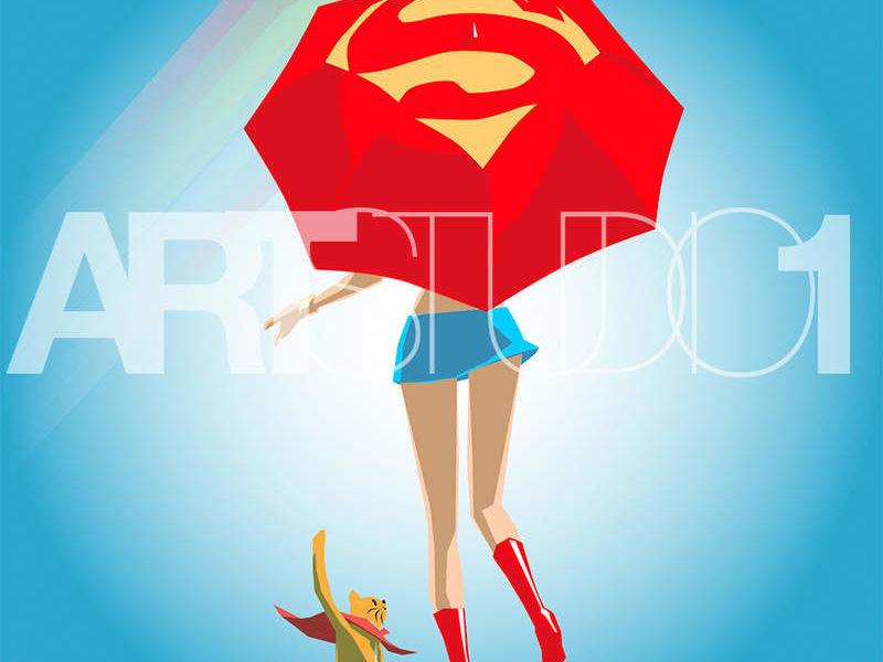 SUPER GIRL / POP ART