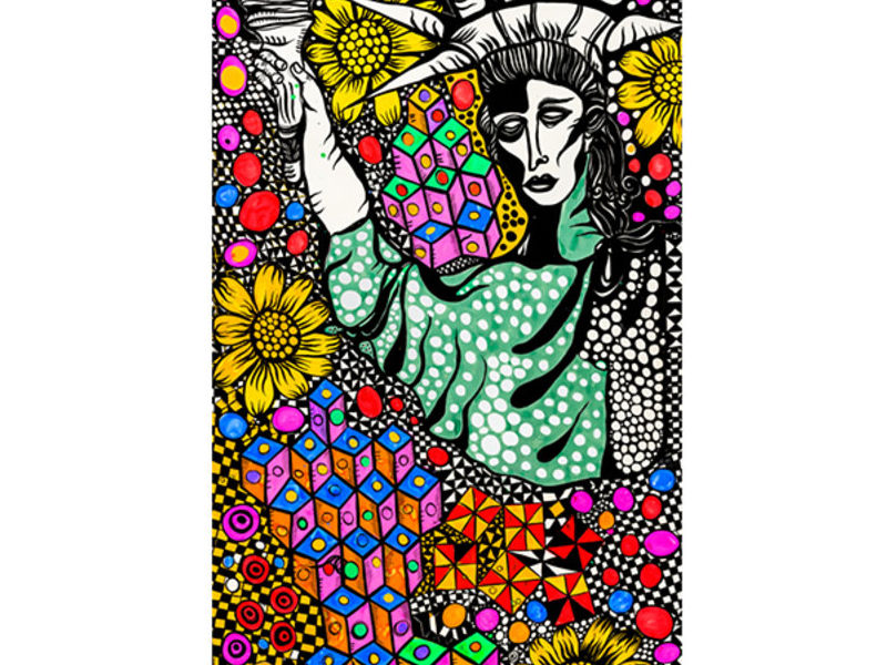 Libertad, te inclinas y tus flores estallan.